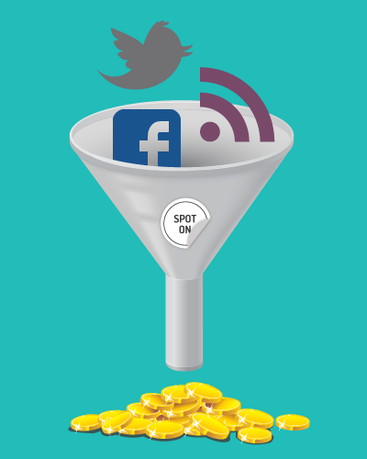 Landing page design for your blog and social media efforts