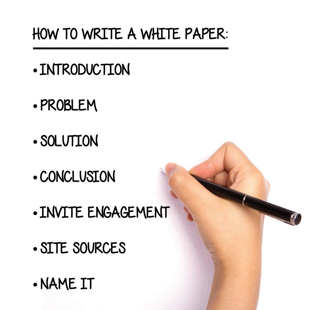 how to write a white paper step by step guide