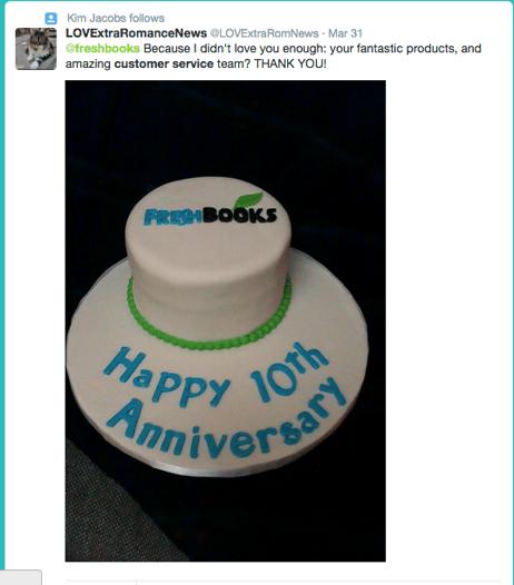 Freshbooks cake