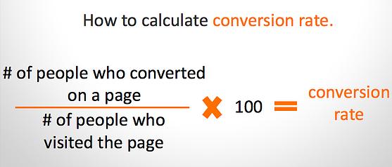calculate conversion rate-1