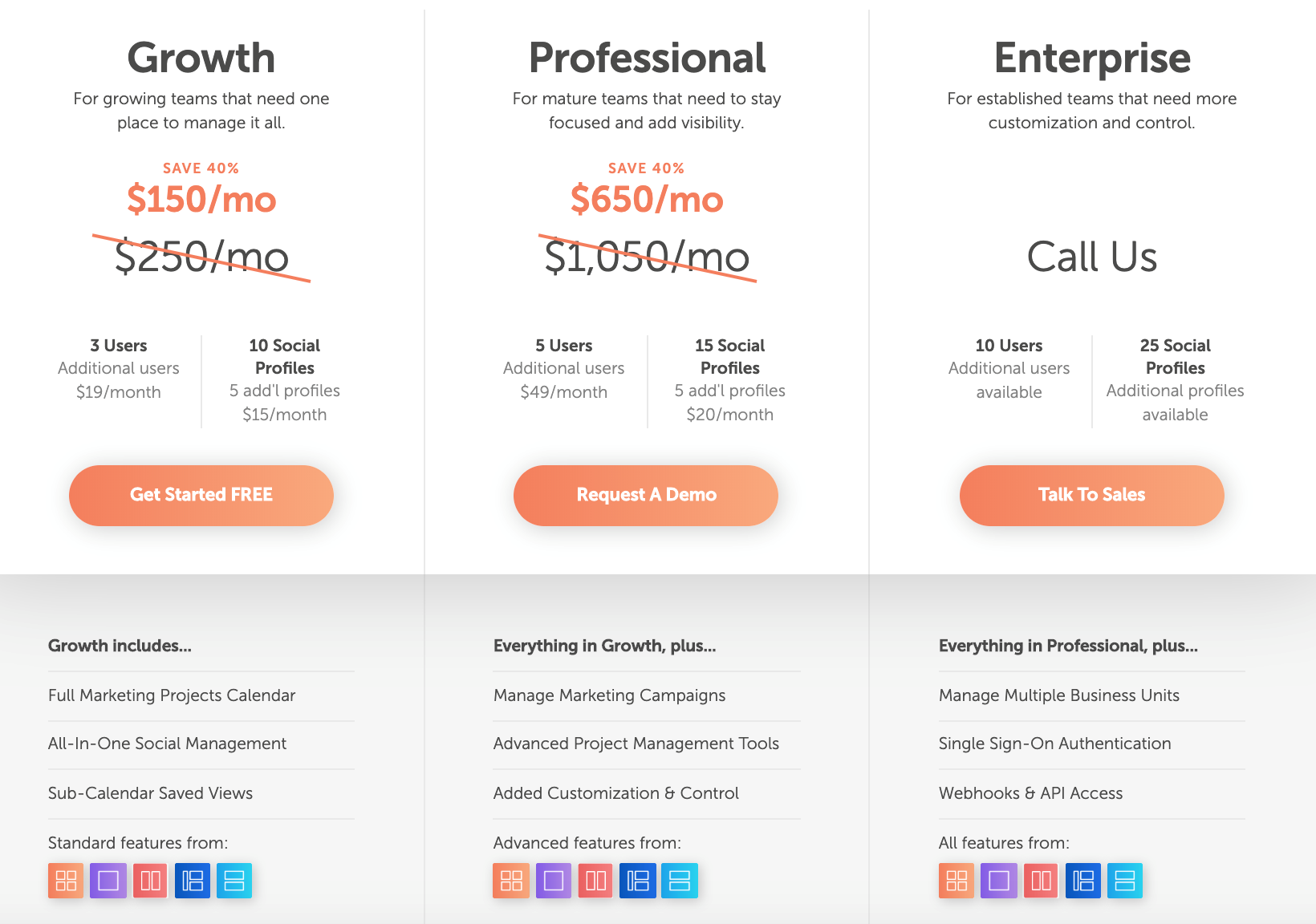 SaaS Website Pricing Page Example